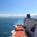 Leaving South Island on Ferry