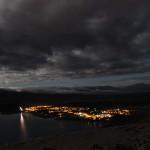 Night Sky Tour View of Town